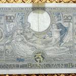 Bélgica 100 francos-20 belgas 1941 reverso