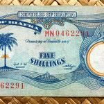 Biafra 5 shillings 1968 anverso