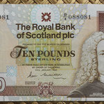 Escocia 10 pounds 1990 (152x85mm) pk.352a anverso