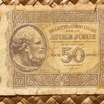 Islas Jónicas ocup. italiana WWII 50 dracmas 1941 anverso