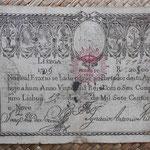Portugal 20.000 reis 1799 resellado Pedro IV 1826 pk.31 anverso