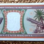 Mauritania 200 ouguiya 1999 reverso