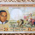 Madagascar 5000 francos 1966 anverso