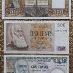 Belgica y Congo Belga francos Leopoldo II años '50 anversos