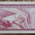 Luxemburgo 100 francos 1963 (148x78mm) pk.52a reverso