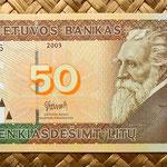Lituania 50 litus 2003 anverso