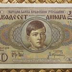 Yugoslavia 20 dinares 1936 (135x80mm) pk.30 anverso