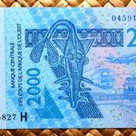 Niger 2000 francos 2003 anverso
