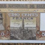 Belgica 500 francos 1945 (170x90mm) pk.130 anverso
