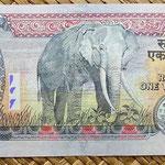 Nepal 1000 rupias 2000 reverso