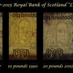 Escocia serie Libras 1987-2015 RBS Lord Ilay marcas de agua