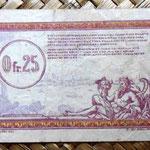 Francia 0.25 francos 1923 -Régie des Chemins de Fer des Territoires Occupés- reverso