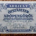 Hungria 500.000 adopengo 1946 (135x82mm) pk.139b anverso