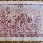Malawi 1 kwacha 1988 (134x74mm) pk.19b reverso
