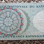 Katanga 100 francs katangais 1962 reverso