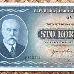 Checoslovaquia 100 korun 1945 anverso