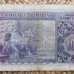 Santo Tomé y Príncipe 100 escudos 1958 pk.38 reverso