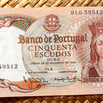 Portugal 50 escudos 1964 anverso