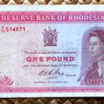 Rodesia 1 pound 1968 anverso