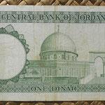 Jordania 1 dinar L1959-2ed. (150x75mm) pk.14a reverso