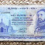 Etiopía 100 dólares 1961 anverso