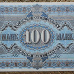 Alemania 100 marcos 1911 Sachsische Bank Dresden (160x102mm) pk.S952b reverso