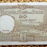 Bélgica 20 francos 1943 reverso