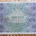 Imperio Austrohúngaro 100000 coronas 1922 reverso