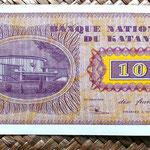 Katanga 10 francos 1960 reverso