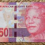 Sudáfrica 50 rand 2012 anverso