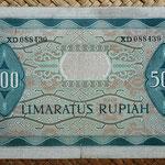 Indonesia 500 rupias 1952 pk.47 reverso