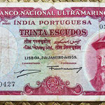 India portuguesa 30 escudos 1959 pk.41 anverso