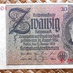 Alemania 20 reichsmark 1929 anverso