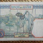 Túnez 5 francos 1941 (128x88mm) pk.8b reverso