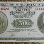 Indias Holandesas 50 gulden 1943 anverso