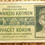 Bohemia y Moravia 20 coronas 1944 anverso