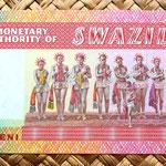 Swazilandia 1 lilangeni 1974 reverso