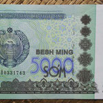 Uzbekistan 5.000 sum 2013 (144x78mm) pk.83 anverso