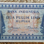 Indonesia 25 rupias 1952 (144x82mm) pk.44a anverso