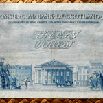 Escocia 20 pounds sterling -Commercial Bank of Scotland 1947 reverso