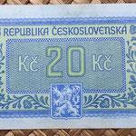 Checoslovaquia 20 korun 1945 reverso