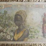 Mali 5000 francos 1971-84 (156x102mm) pk.14d reverso