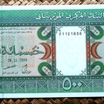 Mauritania 500 ouguiya 1999 anverso