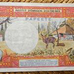Polinesia francesa 1000 francos 1996  reverso