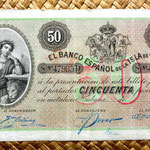 Cuba colonial 50 pesos 1896 anverso
