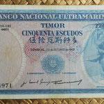 Timor portugués 50 escudos 1967 (150x80mm) pk.27a anverso