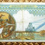 Marruecos 50 dirhans 1969 reverso