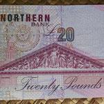 Irlanda del Norte 20 libras 1999 Northern Bank pk.199b reverso