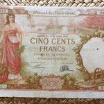 Djibouti 500 francos 1927 anverso