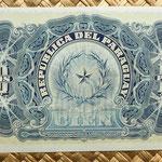 Paraguay 100 pesos 1907 reverso
